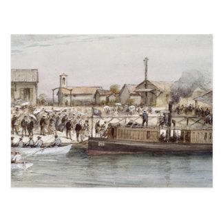 La inauguración del canal de Suez Postal