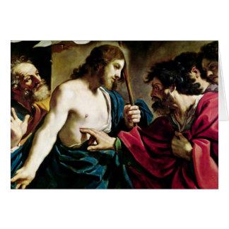 La incredulidad de St Thomas Tarjeta De Felicitación