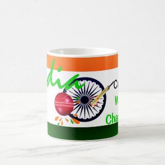 La India 2011 mundiales del grillo ICC defiende la Taza De Café