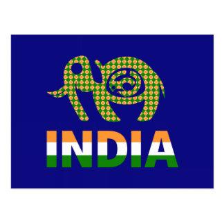 La India, elefante pintado Postales