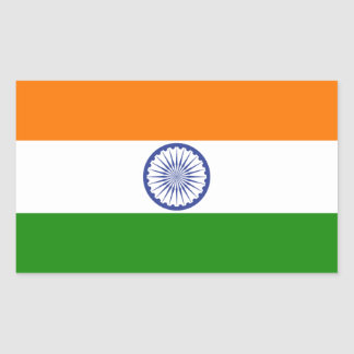 La India Pegatina Rectangular