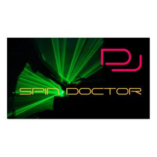 La industria musical de DJ carda verde rosado Tarjetas De Visita