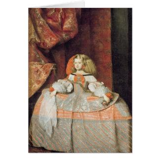 La infanta Maria Marguerita en rosa Tarjeta De Felicitación