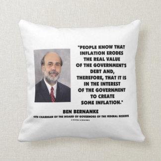 La inflación de Ben Bernanke erosiona la deuda Cojín