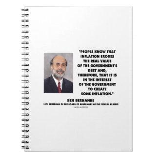 La inflación de Ben Bernanke erosiona la deuda Cuaderno