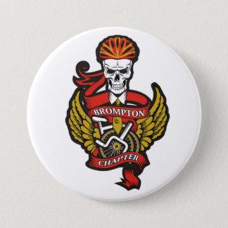 La insignia del Pin del capítulo de Brompton (bici Chapa Redonda De 7 Cm