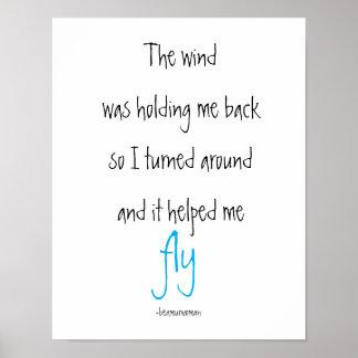 La inspiración del poster el viento me ayudó a póster