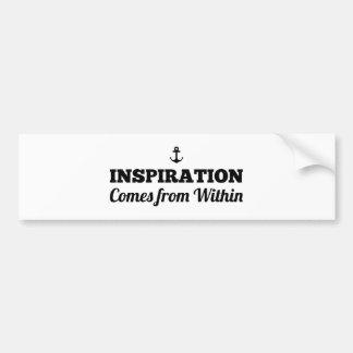 La inspiración viene dentro de pegatina para el