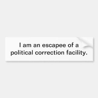 La instalación de corrección política - pegatina p pegatina de parachoque