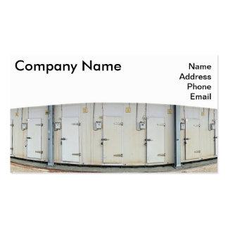 La instalación moderna del almacenamiento del frío tarjetas de visita
