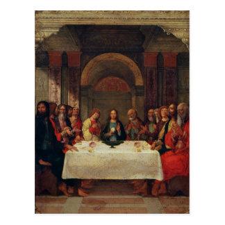 La institución de la eucaristía, c.1490 postal