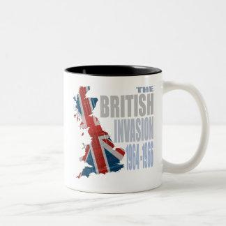 La invasión británica 1964-1966 taza de dos tonos