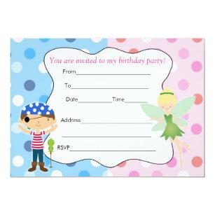 8 Tarjetas De Invitación Chica Hada Cumpleaños Duendecillo