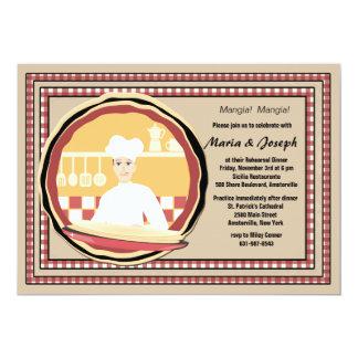 La invitación de la esquina del cocinero invitación 12,7 x 17,8 cm