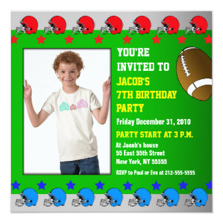 La invitación de la fiesta de cumpleaños de los invitación 13,3 cm x 13,3cm