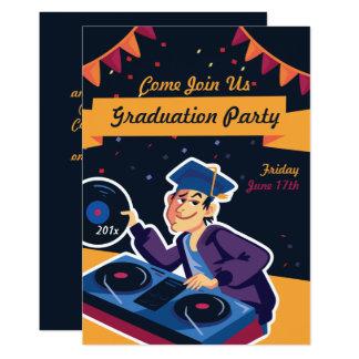 La invitación de la fiesta de graduación de DJ del