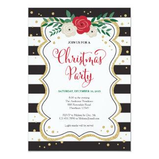La invitación de la fiesta de Navidad, fiesta de