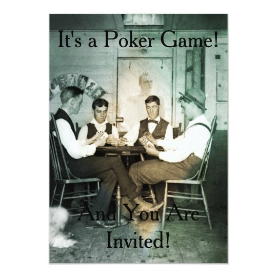 La invitación de la fotografía del juego de póker