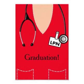 La invitación de la graduación de la enfermera de
