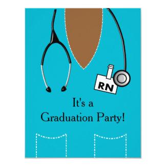 La invitación de la graduación de la enfermera del invitación 10,8 x 13,9 cm
