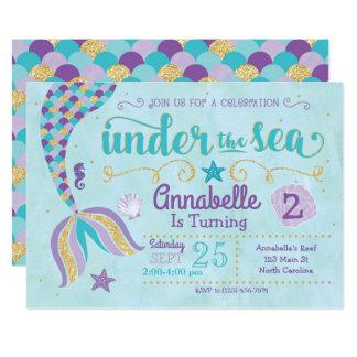 La invitación de la sirena debajo del mar invita