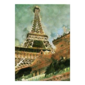 La invitación de Las Vegas de la torre Eiffel