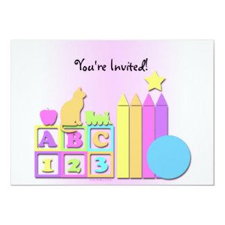 La invitación de los niños preescolares de la