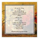 La invitación de los padres de novia y del novio, invitación 13,3 cm x 13,3cm