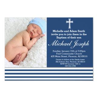 La invitación del bautismo del muchacho, bautismo