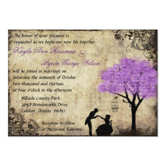La invitación del boda del vintage de la oferta