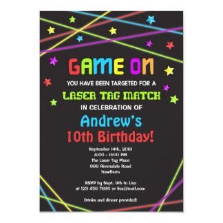 La invitación del cumpleaños de la etiqueta del