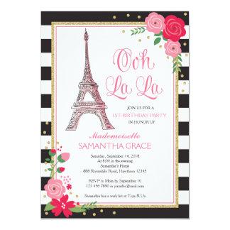 La invitación del cumpleaños de París/el
