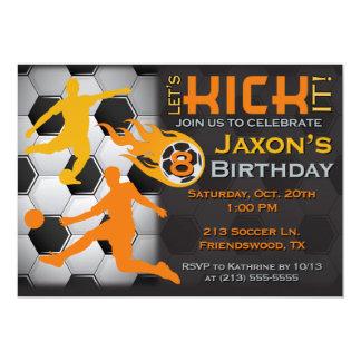 La invitación del cumpleaños del fútbol del