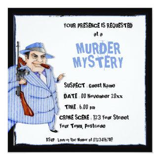 La invitación del misterioso asesinato del jefe de invitación 13,3 cm x 13,3cm