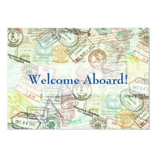 La invitación del viaje del sello del pasaporte