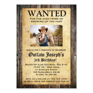 La invitación el | del fiesta del vaquero QUISO la