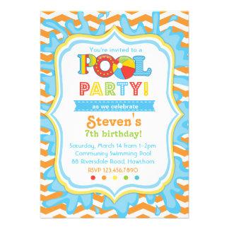 La invitación/la fiesta en la piscina de la fiesta
