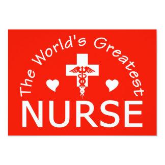 La invitación más grande de la enfermera,