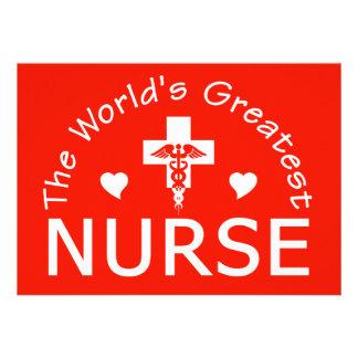 La invitación más grande de la enfermera personal