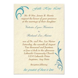 La invitación más grande del boda del trullo del