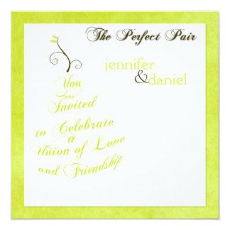 """La invitación perfecta del boda de la """"pera"""" invitación 13,3 cm x 13,3cm"""