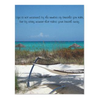 La invitación perfecta del boda de playa….