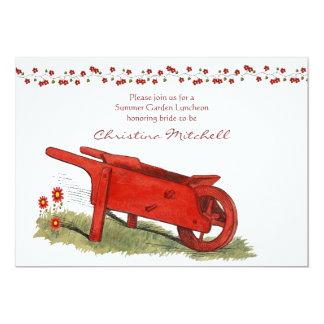 La invitación roja del carro
