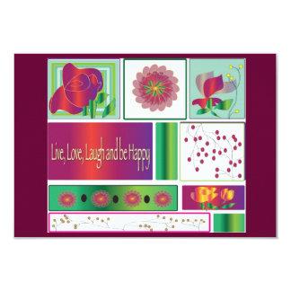"""la invitación """"viva, la risa del amor, y sean invitación 8,9 x 12,7 cm"""