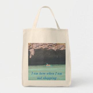 la isla 1 canoeing del maya, soy aquí cuando no so bolsa tela para la compra