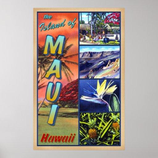 La isla de Maui Hawaii Impresiones