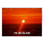 La isla GRANDE - Hawaii Tarjeton