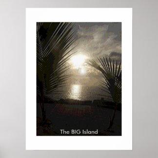 La Isla-Puesta del sol GRANDE Póster