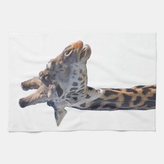 La jirafa dice hola las toallas de mano