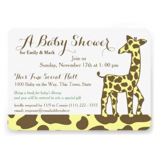 La jirafa mancha la fiesta de bienvenida al bebé anuncio